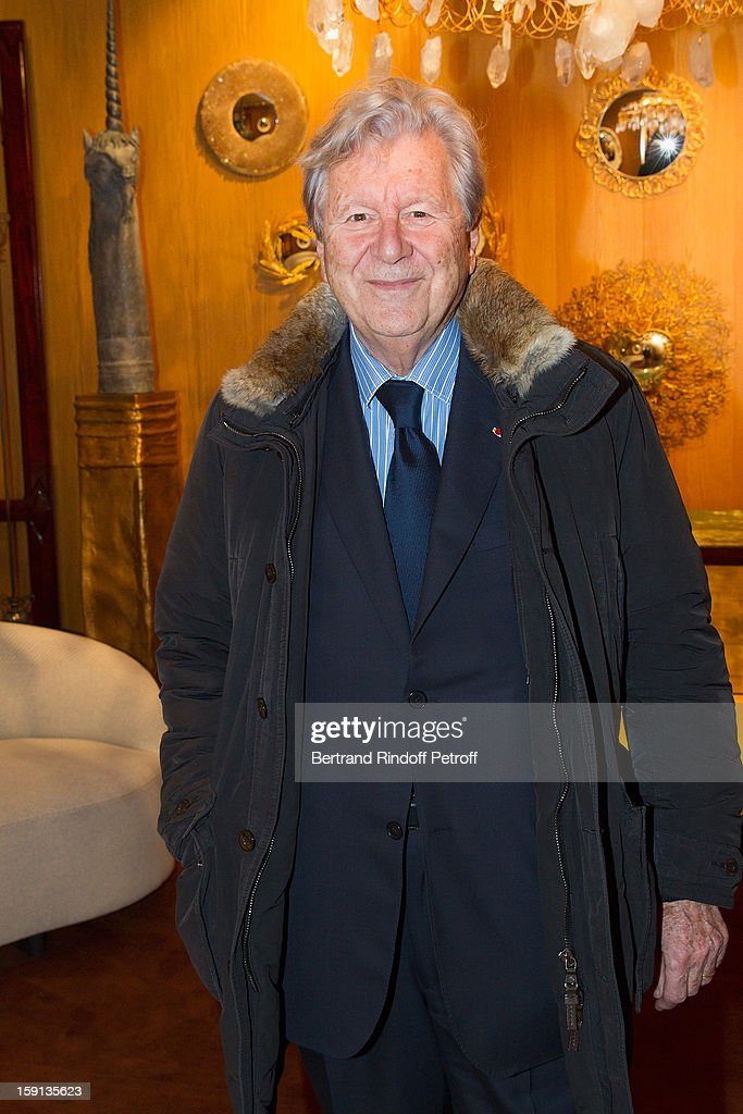 Banker Bruno Roger attends the 'Sorcieres' (Witches) exhibition preview at Galerie Pierre Passebon on January 8, 2013 in Paris, France.