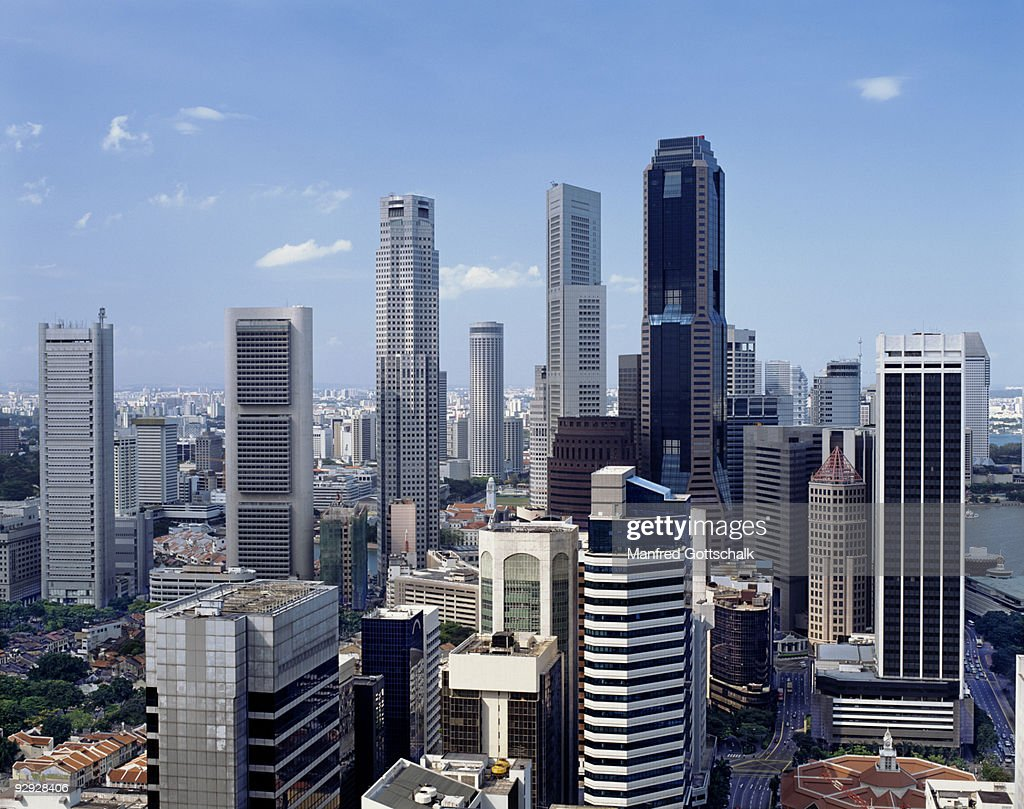 Banking District , Singapore : Stock Photo