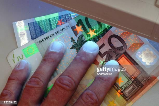 Banknoten Sicherheitskontrolle