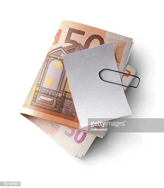 Banknoten mit Kassenbeleg