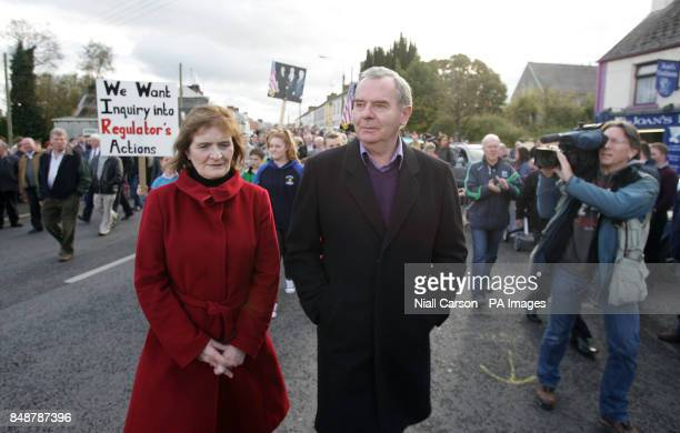 Bankrupt businessman Sean Quinn and his wife Patricia during a rally in support of Quinn and his family in Ballyconnell Co Cavan