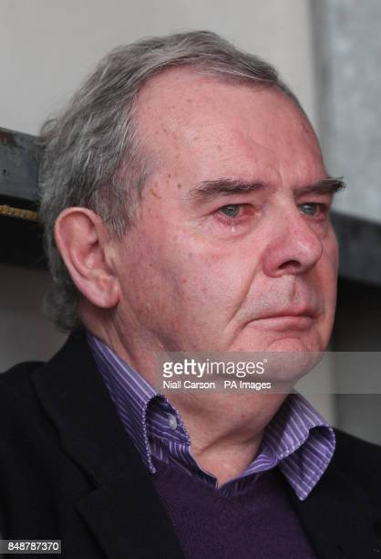 Bankrupt businessman Sean Quinn becomes emotional during a rally in support of Quinn and his family in Ballyconnell Co Cavan