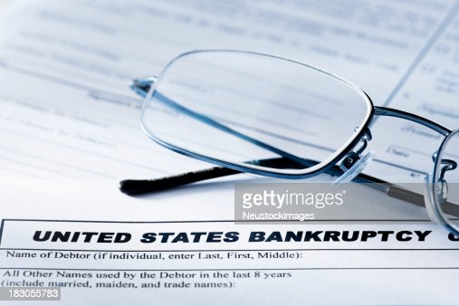 Bankruptcy Forms and Glasses