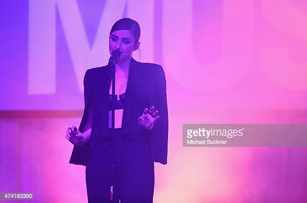 Banks performs on stage at the 6th annual ELLE Women In Music celebration presented By eBay Hosted by Robbie Myers with performances by Alanis...