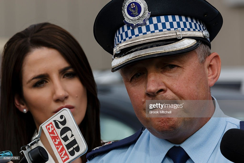 Bankstown Commander Dave Eardley at Bankstown Central Shopping Centre on April 29, 2016 in Sydney, Australia. One man has been confirmed dead, with two others injured.