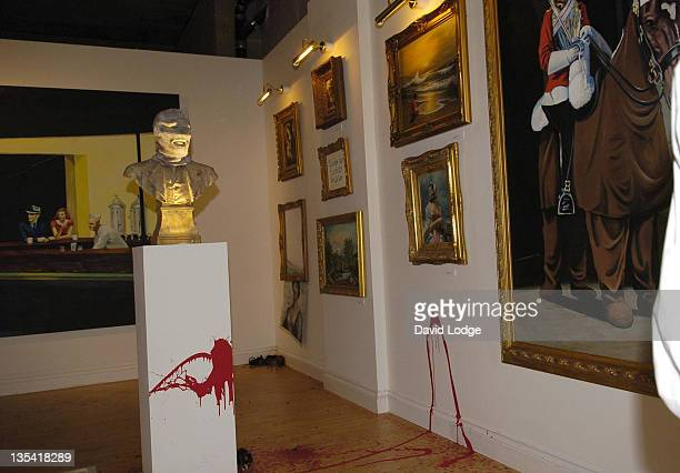 Banksy Art Exhibition during Banksy Art Exhibition In Notting Hill October 14 2005 at 100 Westbourne Grove Notting Hill in London Great Britain