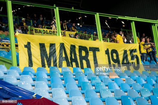 banner 1 maart 1945 during the Dutch Eredivisie match between Vitesse Arnhem and VVV Venlo at Gelredome on September 17 2017 in Arnhem The Netherlands