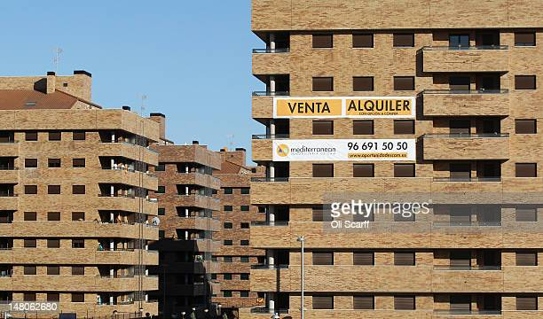 A banner advertises apartments for rent or purchase on a largescale residential development which stands predominately unoccupied on July 6 2012 in...
