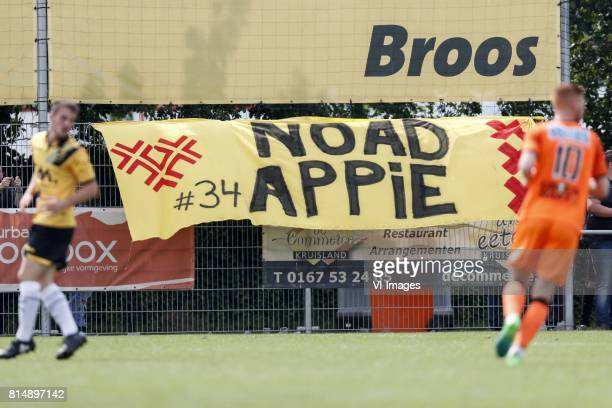 banner for Abdelhak Nouri of Ajax during the friendly match between NAC Breda and FC Volendam at Sportpark Blankershove on July 15 2017 in OudGastel...