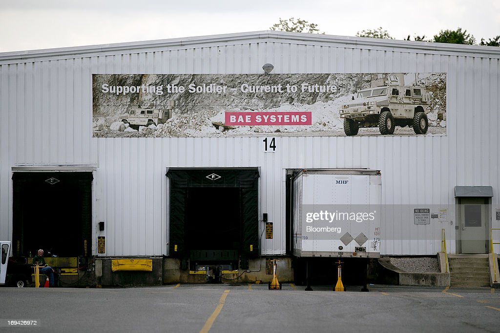 A banner hangs on a building at the BAE Systems Plc Land & Armaments facility in York, Pennsylvania, U.S., on Thursday, May 23, 2013. BAE Systems Plc is deploying smaller suppliers to pressure U.S. lawmakers to speed up orders to modernize Bradley fighting vehicles, a move the company said may protect thousands of subcontractor jobs and keep a Pennsylvania assembly line open. Photographer: Andrew Harrer/Bloomberg via Getty Images