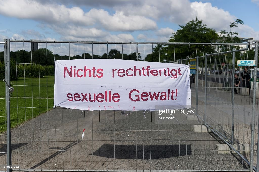Banner in Berlin Germany on 7 July 206 against sexual violence and against certain contents of the reform of the law governing sexual offences