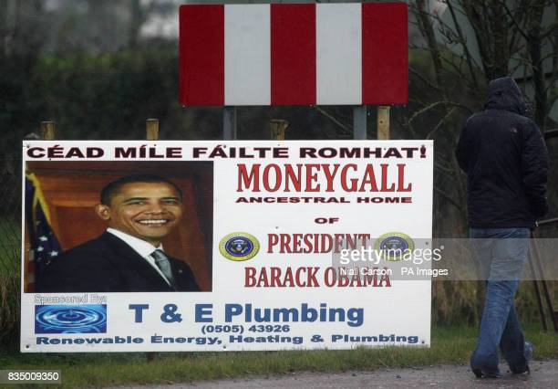 A banner in the village of Moneygall Co Offaly ahead of Barack Obama's momentous inauguration The ancestral Irish homestead could be transformed into...
