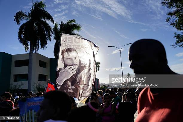 A banner is seen as the remains of Fidel Castro are laid to rest on December 4 in Santiago de Cuba Cuba Cubas former President Fidel Castro died on...