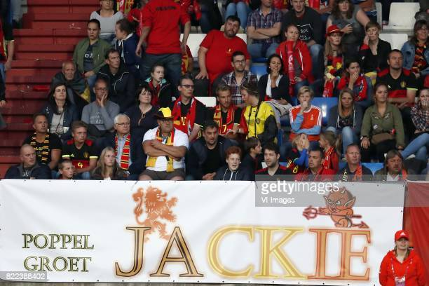 banner Jackie Groenen of Holland Women during the UEFA WEURO 2017 Group A group stage match between Belgium and The Netherlands at Koning Willem II...