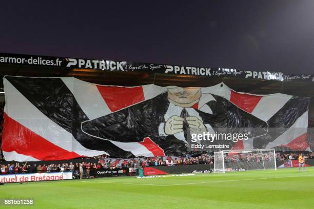 Banner of supporters of Guingamp during the Ligue 1 match between EA Guingamp and Stade Rennais at Stade du Roudourou on October 14 2017 in Guingamp
