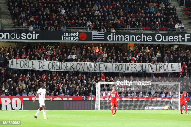 Banner of Supporters of Rennes during the Ligue 1 match between Stade Rennais and Lille OSC at Roazhon Park on October 21 2017 in Rennes