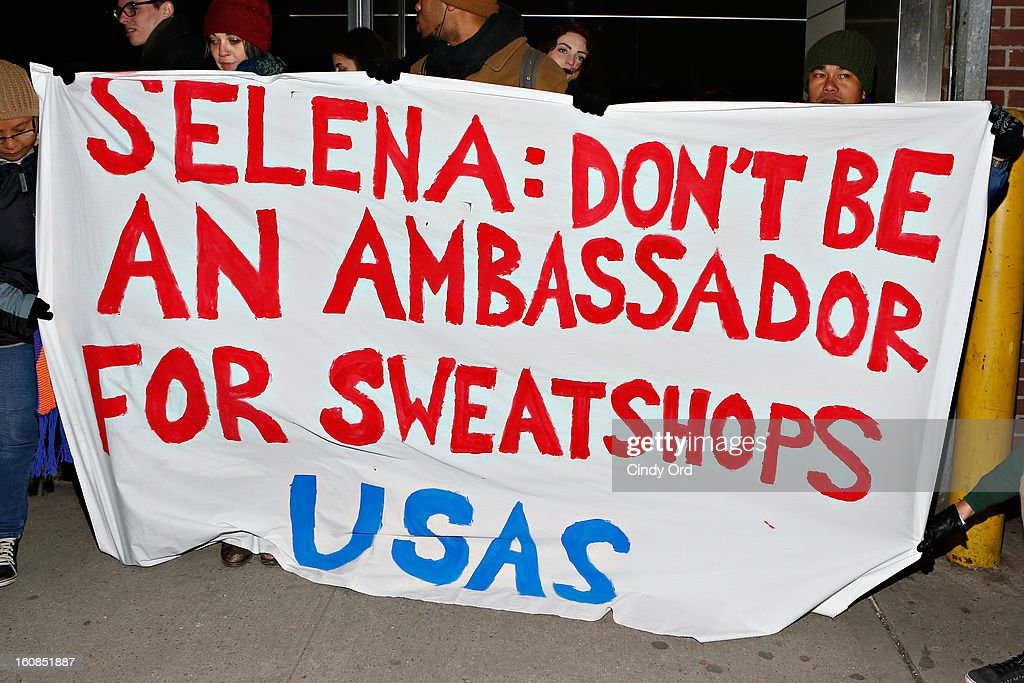 banner seen outside of the adidas NEO Label Fall 2013 fashion show on February 6, 2013 in New York City.