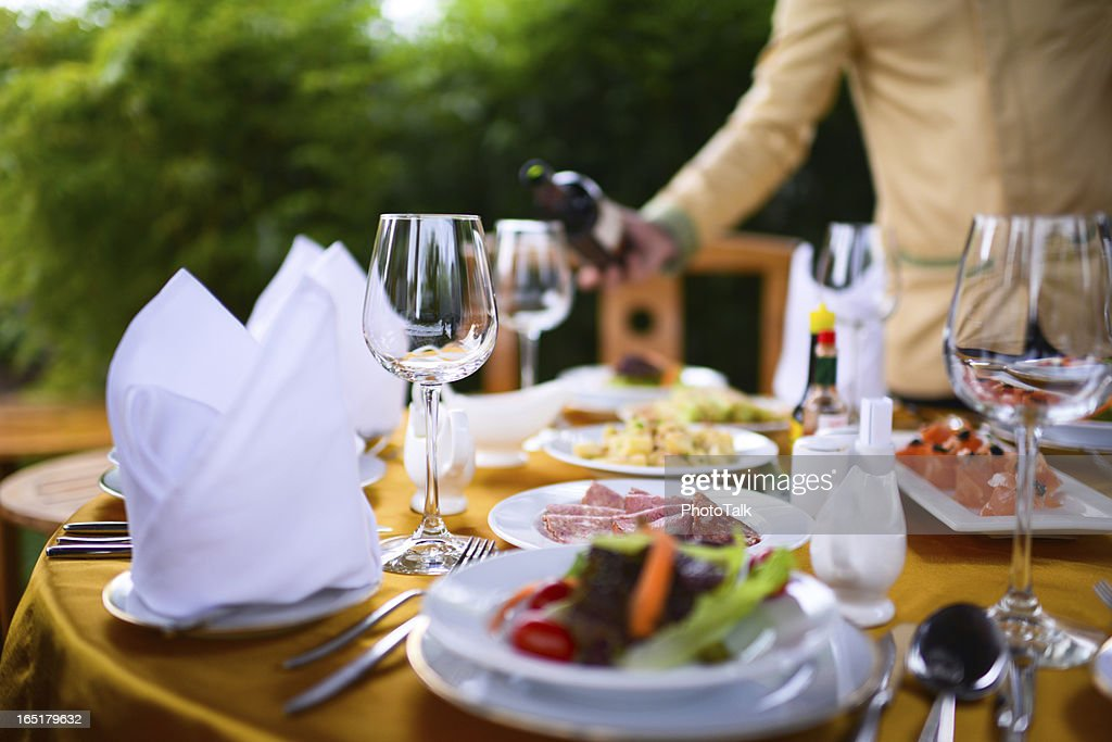 Banquet and Dinner Party : Stock Photo