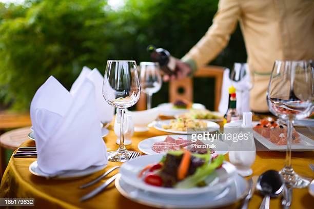 Bankett- und Abendessen