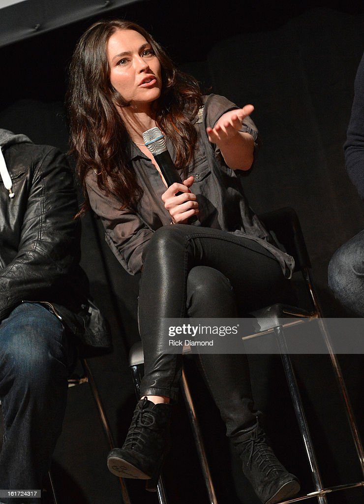 'Banshee' cast member Trieste Kelly Dunn (Siobhan Kelly) attends Savannah College of Art and Design's aTVfest at Opera Atlanta on February 14,