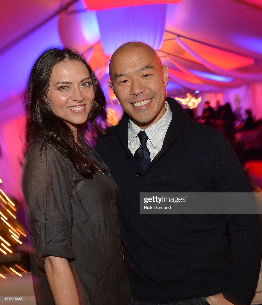 'Banshee' cast members Trieste Kelly Dunn (Siobhan Kelly) and Hood Lee (Job) attend Savannah College of Art and Design's aTVfest at Opera Atlanta on February 14,