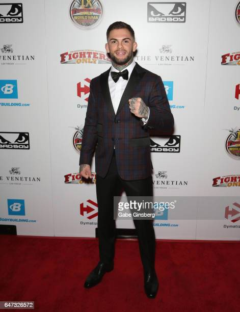 UFC bantamweight champion Cody Garbrandt attends the ninth annual Fighters Only World Mixed Martial Arts Awards at The Palazzo Las Vegas on March 2...