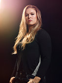 GLENDALE CA FEBRUARY 18 2015 UFC bantamweight champion fighter Ronda Rousey poses for a portrait on February 18 at the Glendale Fighting Club in...