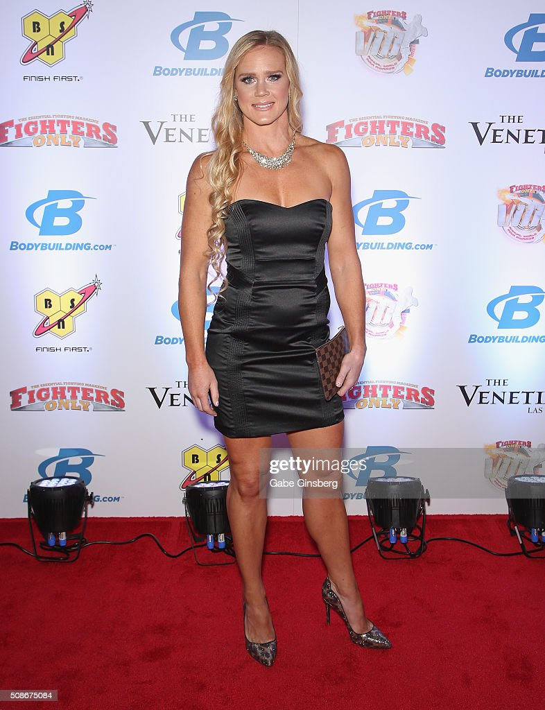 UFC bantamweight champion Holly Holm attends the eighth annual Fighters Only World Mixed Martial Arts Awards at The Palazzo Las Vegas on February 5, 2016 in Las Vegas, Nevada.