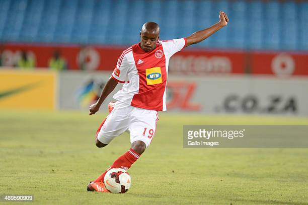 Bantu Mzwakali during the Absa Premiership match between Mamelodi Sundowns and Ajax Cape Town at Loftus Stadium on February 15 2014 in Pretoria South...