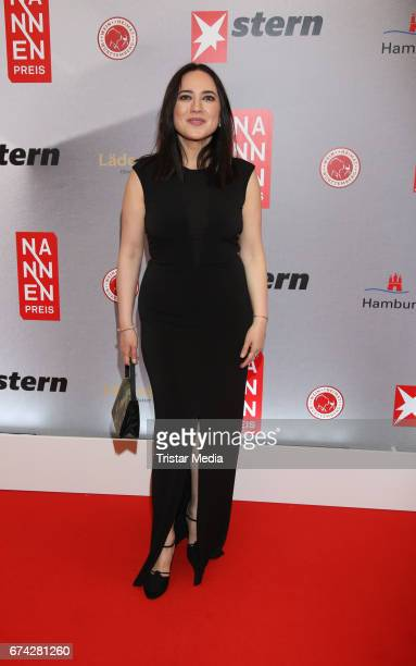 Banu Gueven during the Henri Nannen Award red carpet arrivals on April 27 2017 in Hamburg Germany