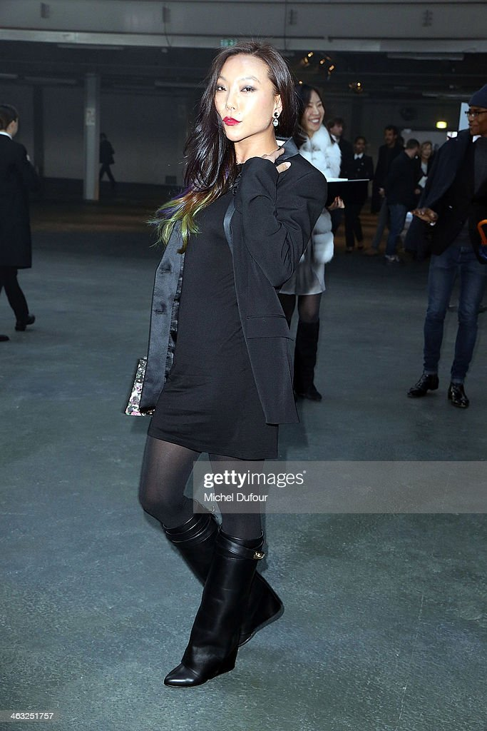 Baobao Wan attends the Givenchy Menswear Fall/Winter 2014-2015 Show as part of Paris Fashion Week on January 17, 2014 in Paris, France.