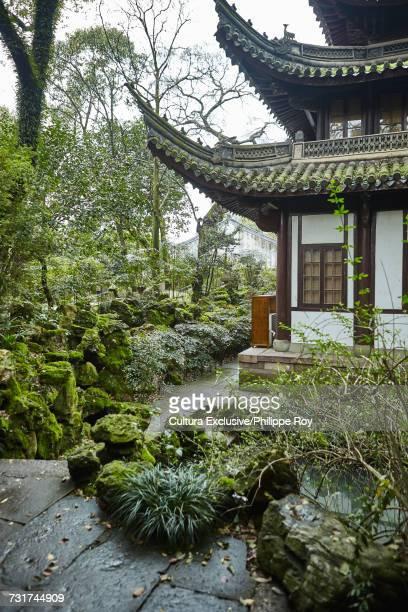 Baoguo temple gardens, Ningbo, Zhejiang, China