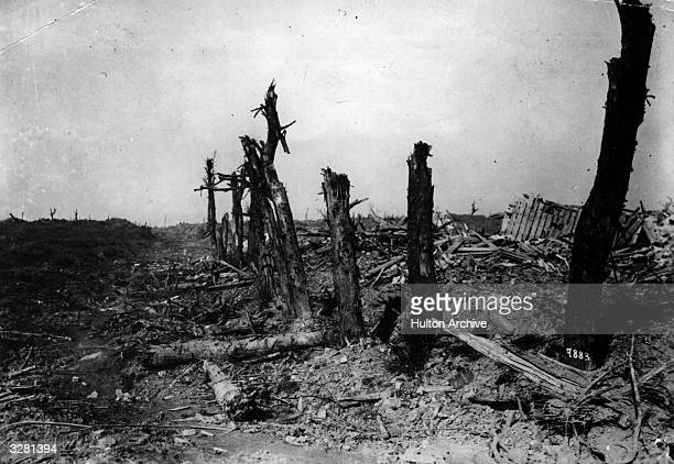 Bapaume Arras sector of the battlefield after the first Battle of the Somme had taken place