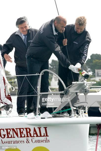 Bapteme du bateau GENERALI de Yann ELIES dont le parrain est Zinedine ZIDANE