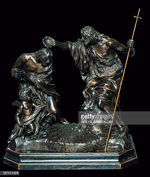 Baptism of Christ by Giovanni Battista Foggini bronze statuette Italy 18th century Florence Palazzo Pitti Galleria Palatina