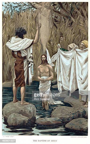 Baptism of Jesus by John the Baptist c1890 Bible New Testament From The Life of our Saviour Jesus Christ by JJ Tissot c1890