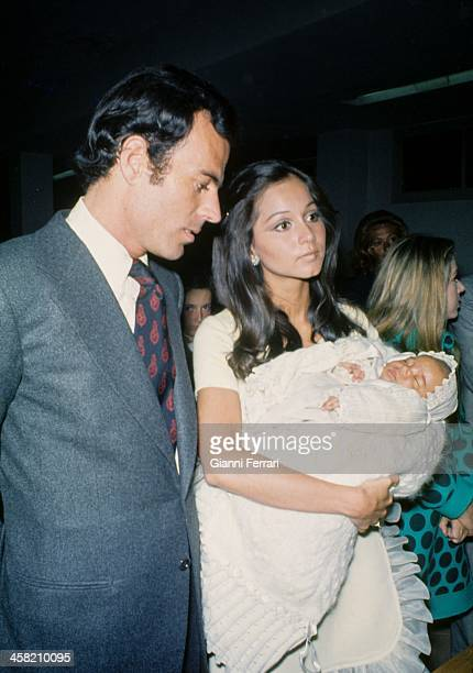 Baptism of Julio the second son of Julio Iglesias and Isabel Preysler Madrid Castilla La Mancha Spain