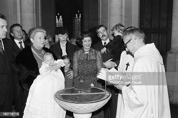 Baptism Of Louisphilippe D'orleans Son Of Thibaut Orleans France le 1er décembre 1979 LouisPhilippe d'ORLEANS fils de Thibaut est baptisé en la...