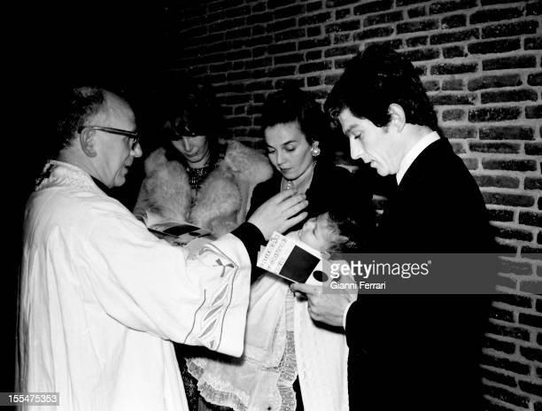 Baptism of Pedro third son of Prince Carlos of Borbon Dos Sicilias and Princess Anne of Orlerans Madrid Castilla La Mancha Spain