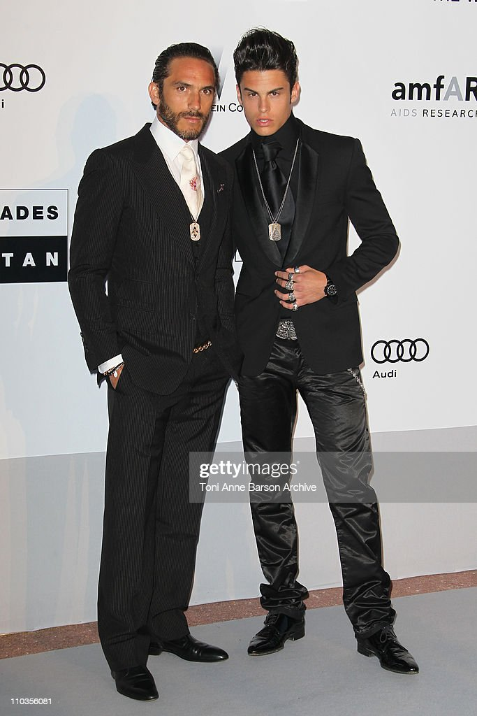 Baptiste Giabiconi and Brad Kroenig attend the amfAR Cinema Against AIDS 2010 at the Hotel du Cap during the 63rd Annual Cannes Film Festival on May 20, 2010 in Antibes, France.
