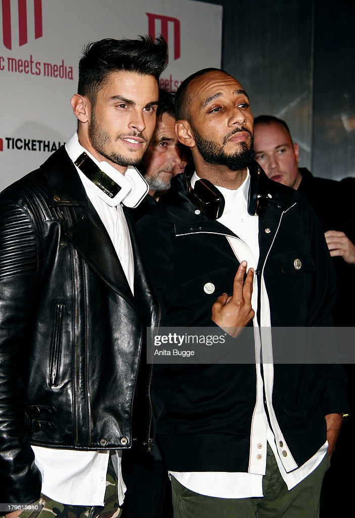Baptiste Giabiconi and Swizz Beatz attend the Music Meets Media 2013 Award at Grand Hotel Esplanade on September 5 2013 in Berlin Germany