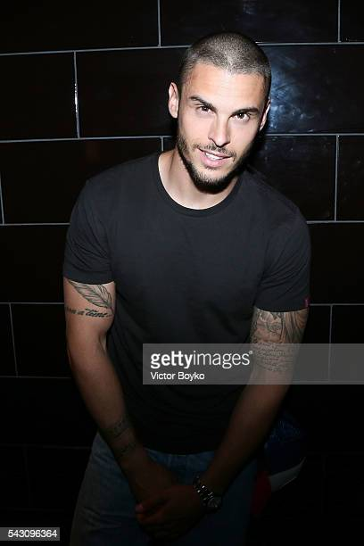 Baptiste Giabiconi attends the Balmain Menswear Spring/Summer 2017 after party as part of Paris Fashion Week at Les Bains on June 25 2016 in Paris...