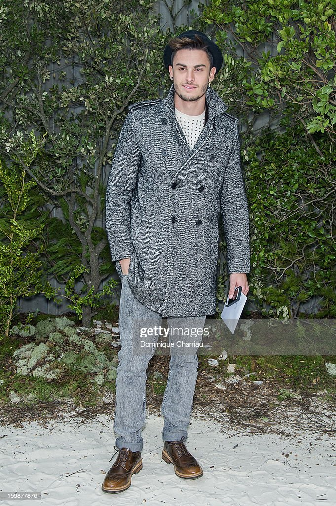 Baptiste Giabiconi attends the Chanel Spring/Summer 2013 Haute-Couture show as part of Paris Fashion Week at Grand Palais on January 22, 2013 in Paris, France.