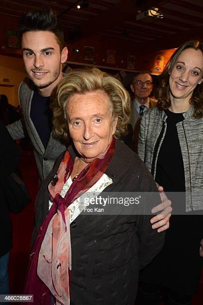 Baptiste Giabiconi Bernadette Chiracand Danuta Pieter attend the 25th Anniversary of Pieces Jaunes Bernadette Chirac's Press Conference At CHRU...