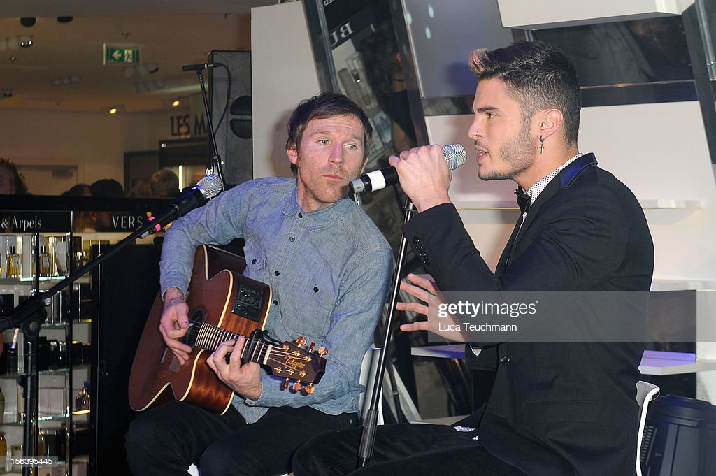 <a gi-track='captionPersonalityLinkClicked' href=/galleries/search?phrase=Baptiste+Giabiconi&family=editorial&specificpeople=5770755 ng-click='$event.stopPropagation()'>Baptiste Giabiconi</a> performs at Les Galeries Lafayettes Re-Open Ground Floor on November 14, 2012 in Berlin, Germany.