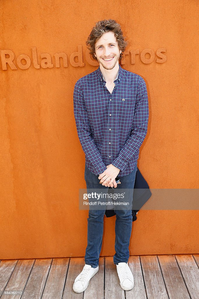 Baptiste Lecaplain attends day four of the French Tennis Open at Roland Garros on May 25, 2016 in Paris, France.
