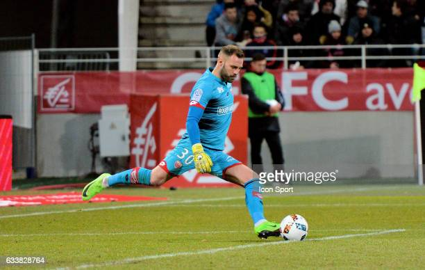 Baptiste Reynet of Dijon during the Ligue 1 match between Dijon DCO and Paris Saint Germain at Stade Gaston Gerard on February 4 2017 in Dijon France