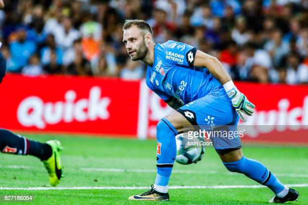 Baptiste Reynet of Dijon during the Ligue 1 match between Olympique Marseille vs Dijon FCO at Stade Velodrome on August 6 2017 in Marseille France...