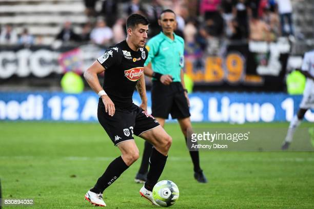 Baptiste SAntamaria of Angers during the Ligue 1 match between Amiens SC and Angers SCO at Stade de la Licorne on August 12 2017 in Amiens