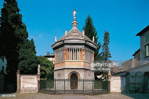 Baptistery of the basilica of Santa Maria Maggiore Citta Alta Bergamo Lombardy Italy 14th century